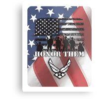 Honor Them-Air Force Metal Print
