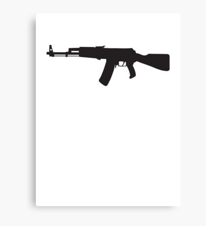 Machine Gun Rifle Canvas Print