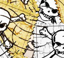 Funny Skull Stamp Sticker