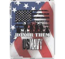 Honor Them-Navy iPad Case/Skin