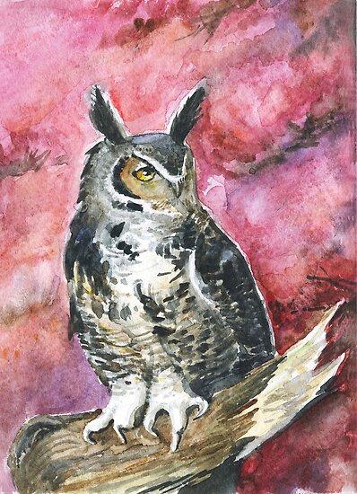Eagle-owl by Redilion