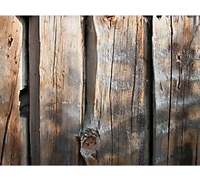 Old Log Wall 3 Photographic Print