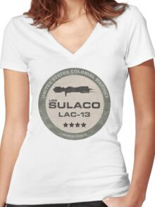 USS Sulaco Women's Fitted V-Neck T-Shirt