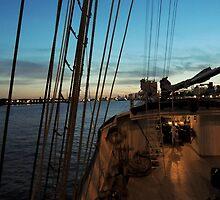 sailing into port by Huskyfan