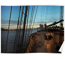 sailing into port Poster
