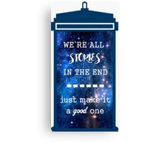 Doctor who - Stories Canvas Print