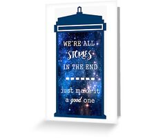 Doctor who - Stories Greeting Card