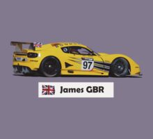 """James"" GR8 British Yellow Racecar - Kid's T-Shirt Kids Tee"