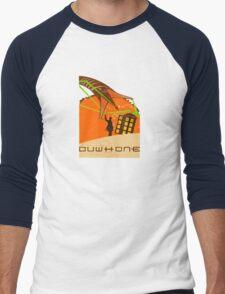 DUWHONE Men's Baseball ¾ T-Shirt