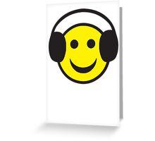 Rave Smily Headphones Greeting Card