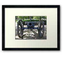 Civil War Cannon Framed Print