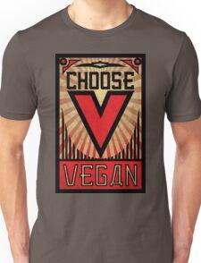 Choose Vegan ~ Propaganda Poster Unisex T-Shirt