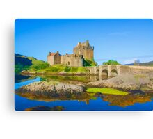 Eilean Donan Watercolour effect Canvas Print
