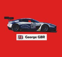 """George"" 007 Blue-White Race Car - Kid's T-Shirt by motapics"