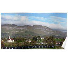 Benbulben Mountain Landscape, Ireland Poster