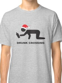 Christmas Drunk Santa Hat Beer Classic T-Shirt