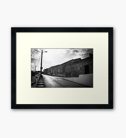 Gritty Road Framed Print