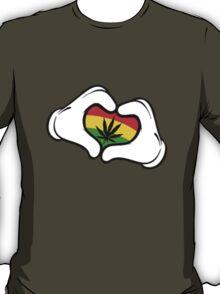 Weed Mickey Hand T-Shirt