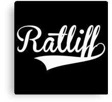 Baseball Style Ratliff (White) Canvas Print