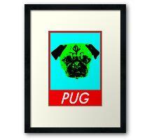 Pug. Framed Print