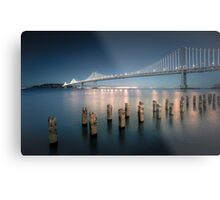 The Bay Bridge Natural Metal Print