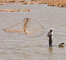Fisherman in The Gambia by Sue Robinson