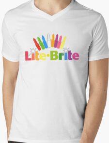 Lite Brite- Retro Toys Mens V-Neck T-Shirt