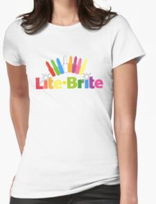 Lite Brite- Retro Toys Womens Fitted T-Shirt
