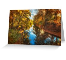 Fall filtered reflections Greeting Card