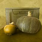 Antique Ammunition Box with Onion and Squash by Jing3011