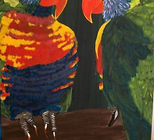 """Rainbow Lorikeets"" by Julie Gilmore"