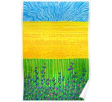 Pastel Art - Yellow Fields  Poster