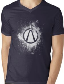 Vault Logo Splatter [V2] Mens V-Neck T-Shirt