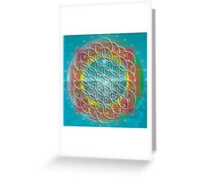 Flower of Life Mandala Greeting Card