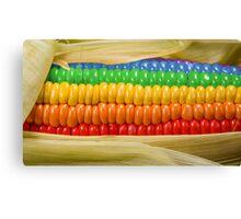 Rainbow Corn Canvas Print