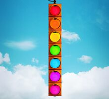 Rainbow Traffic Light by KittyBitty1