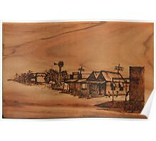Pyrography: Dust Storm Approaching Poster