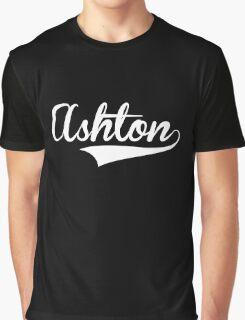 Baseball Style Ashton White) Graphic T-Shirt