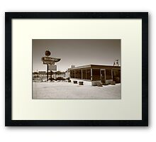 Route 66 - Buckaroo Motel Framed Print