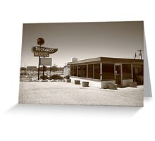 Route 66 - Buckaroo Motel Greeting Card