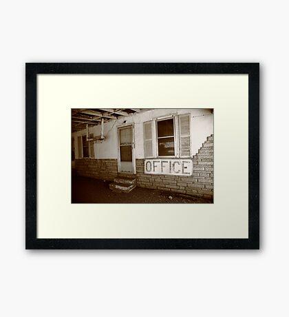 Route 66 Motel Framed Print