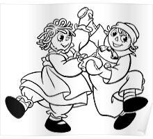 Raggedy Ann & Andy Dancing Poster