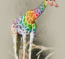 Rainbow Giraffe by KittyBitty1