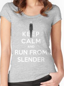 Keep Calm And Run From Slender Women's Fitted Scoop T-Shirt