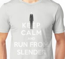 Keep Calm And Run From Slender Unisex T-Shirt
