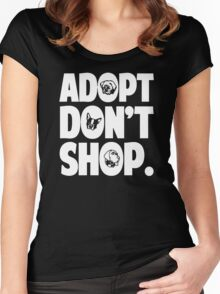 Adopt Don't Shop Animal Rights Women's Fitted Scoop T-Shirt
