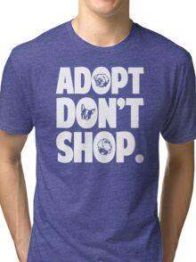 Adopt Don't Shop Animal Rights Tri-blend T-Shirt