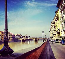 Arno, Florence by Vicente Ortiz Cortez