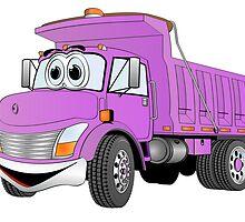 Purple Cartoon Dump Truck by Graphxpro