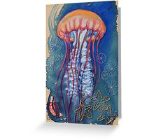 Jellyfish with Stars Greeting Card